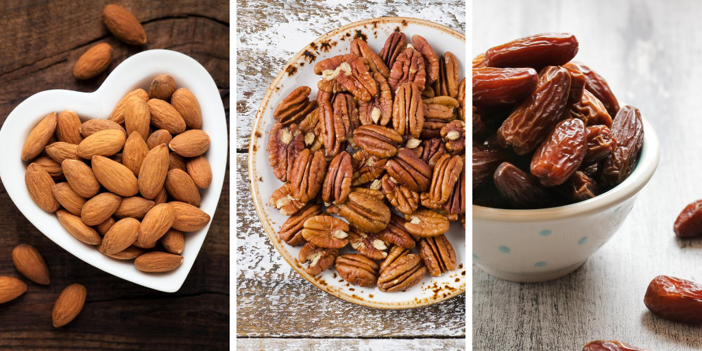 Almonds Pecans and Dates