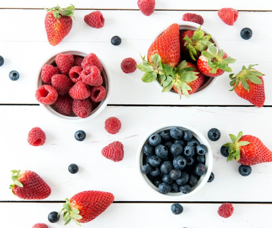 Strawberries, Blueberries and Raspberries