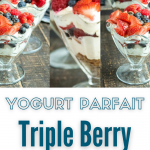 fruit yogurt parfaits with strawberries blueberries and raspberries