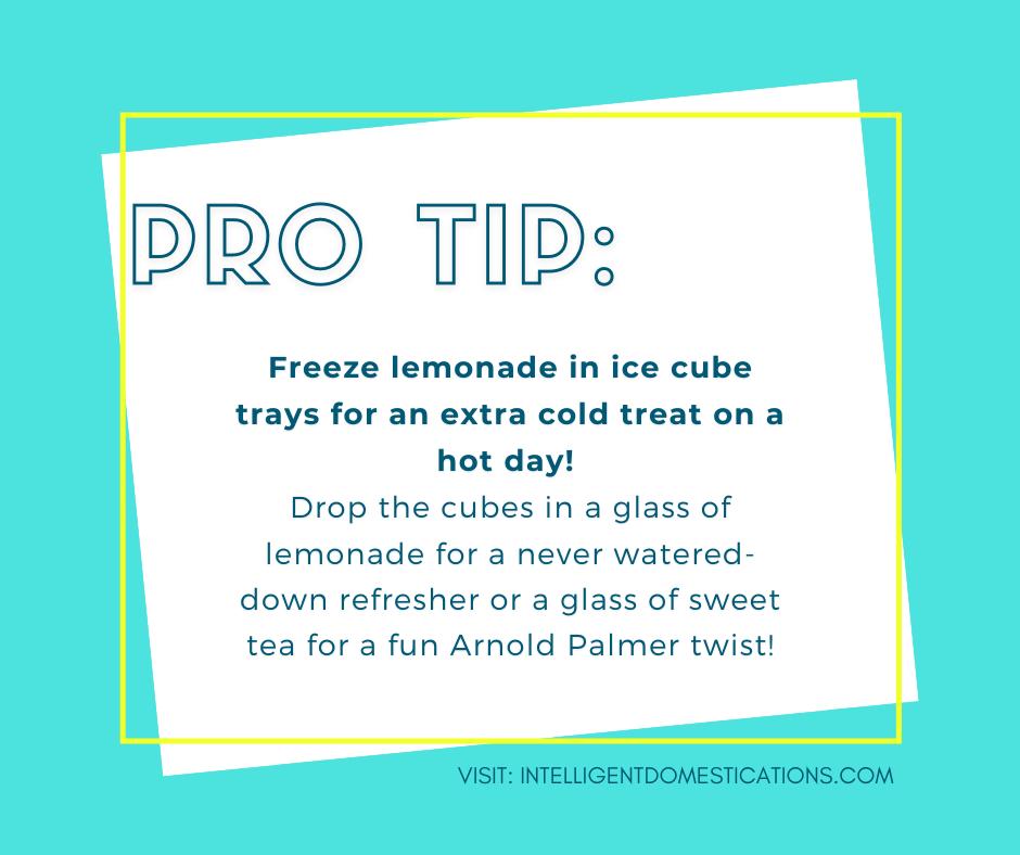 Lemonade tip