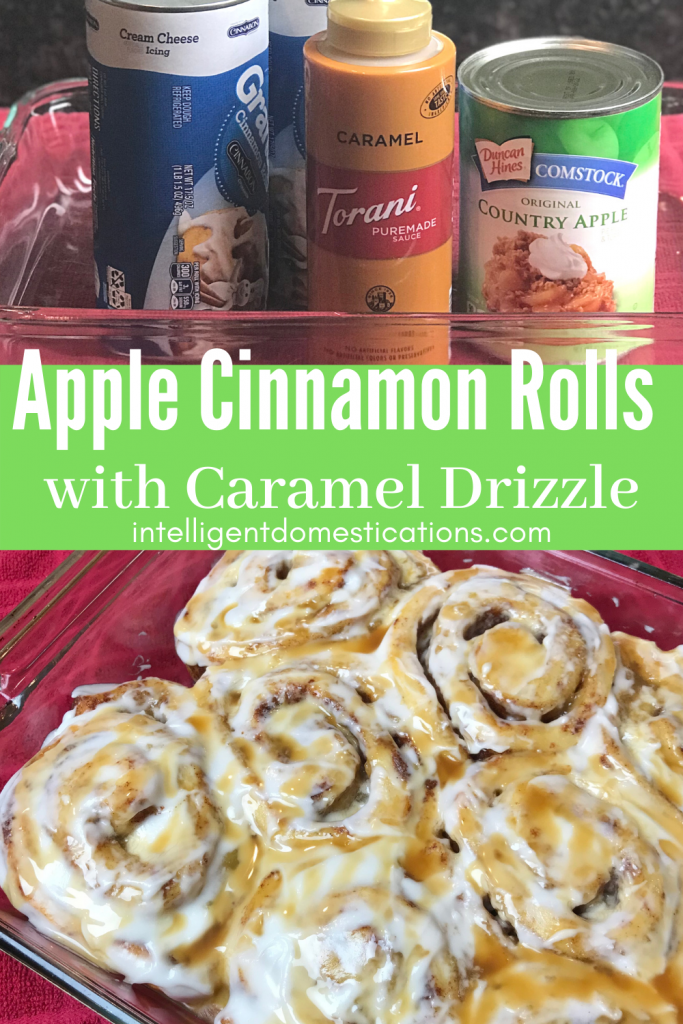 Apple Cinnamon rolls and the ingredients to make them