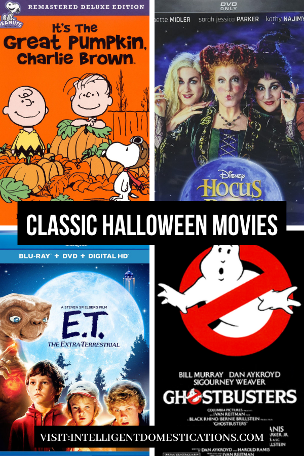 DVD covers of classic Halloween movies