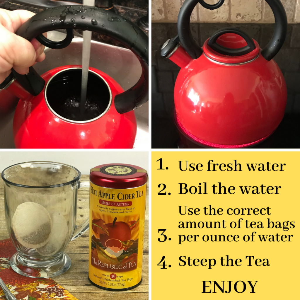 photo tutorial for making hot tea