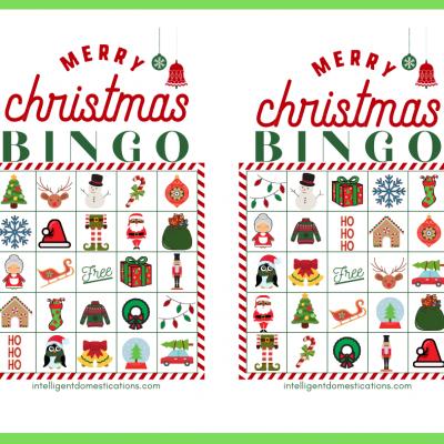 Cute Printable Christmas Bingo Game