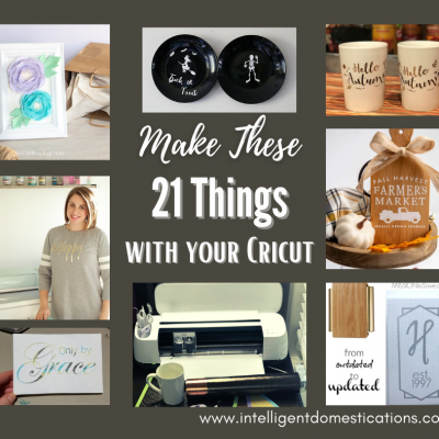 Cricut Maker projects pictured