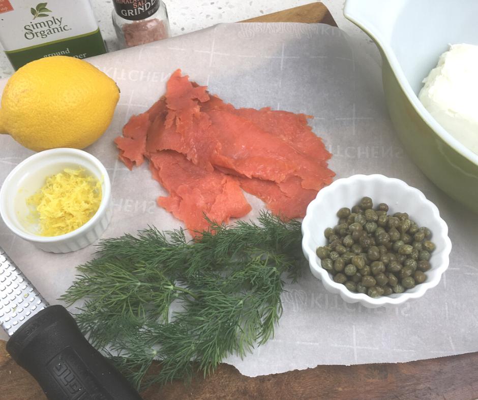 Ingredients for Cucumber Smoked Salmon recipe