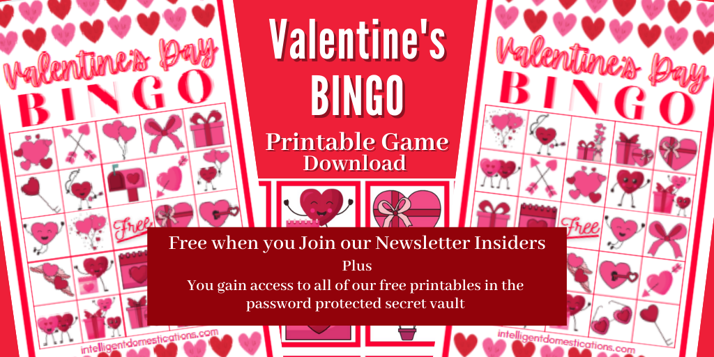 Valentine's Bingo game pictures