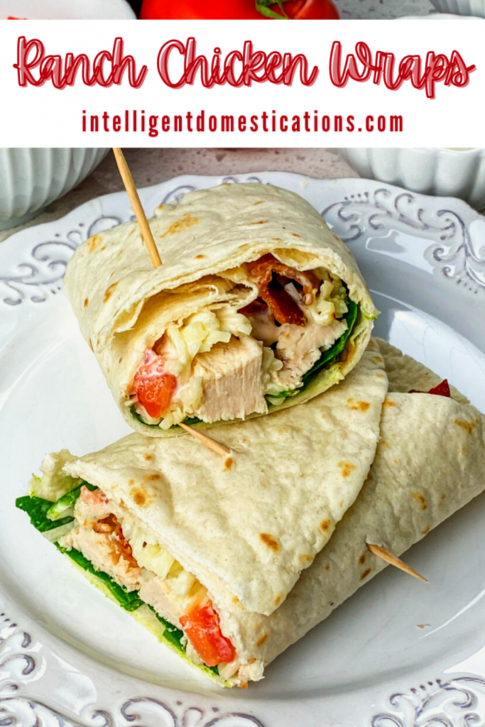 Chicken Bacon Wraps on a white dish