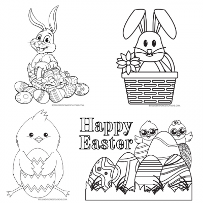 21 Easter Coloring Pages Free Printable