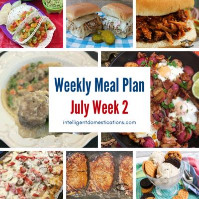 July Meal Plan Week 2