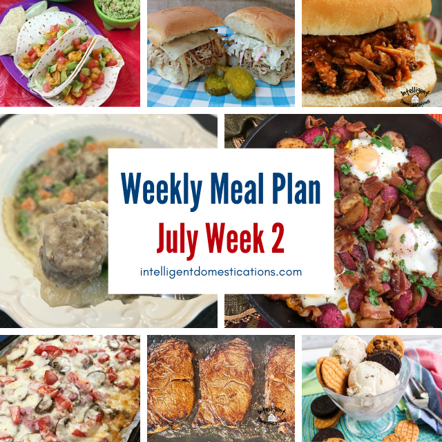food dishes on a meal plan