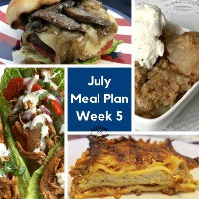 July Meal Plan Week 5