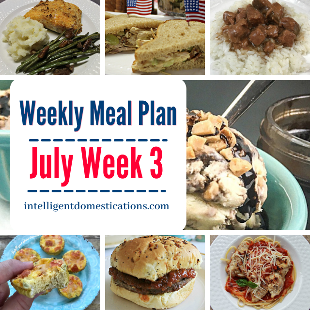 shortcut recipe food dishes on a July meal plan