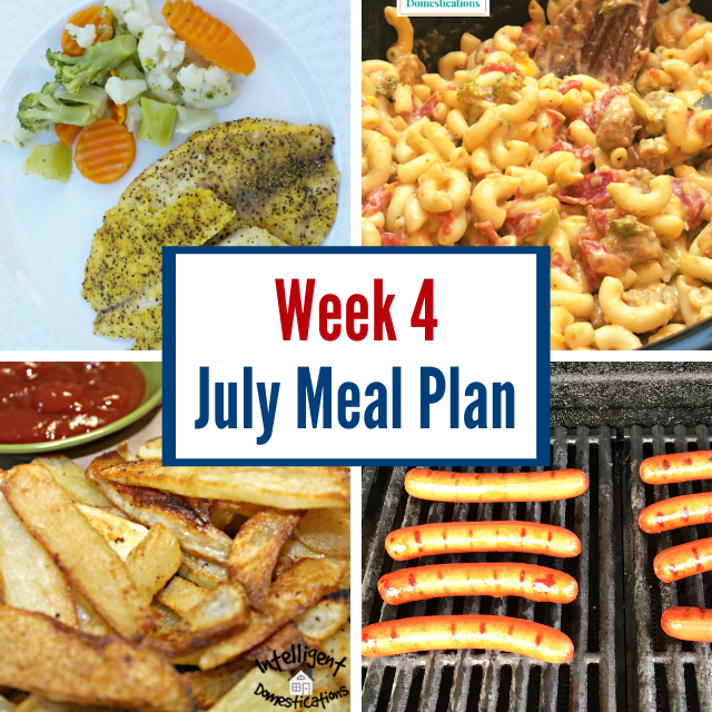 July Meal plan photos for food