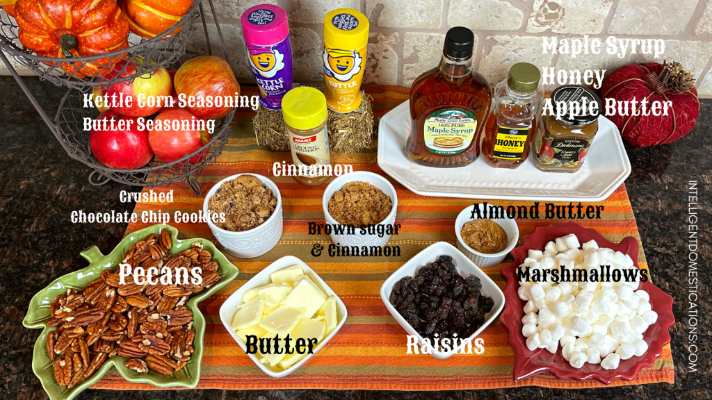 Baked Sweet Potato Toppings Bar labeled