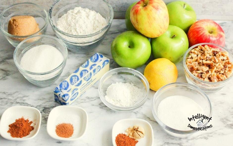 Ingredients for Crockpot Apple Crisp recipe
